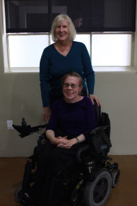 Janet Seely (back) poses for a photo with Kara Khanke (front).