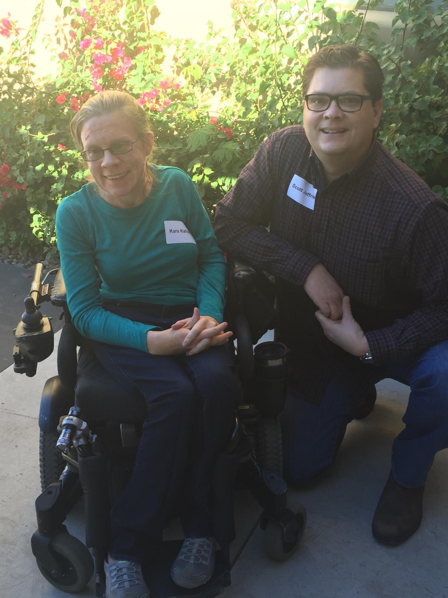 Kara Kahnke (left) poses with Scott Jeffries (right).